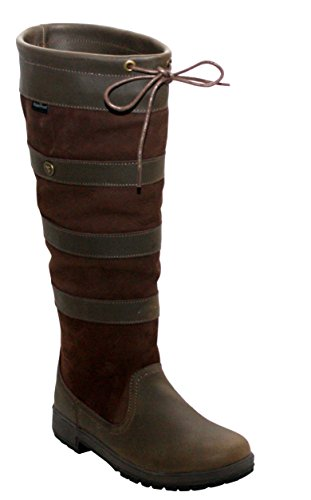 Sizes Country Womens Dark Wyre Stable Ladies Valley UK 4 Boots Brown Leather 8 Horse Long Waterproof Brown Riding Yard P66qwf5Tx