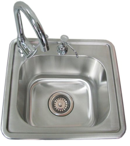 SUNSTONE A-SS17 Single Sink with Hot and Cold (Bowl Reversible Kitchen Sink)
