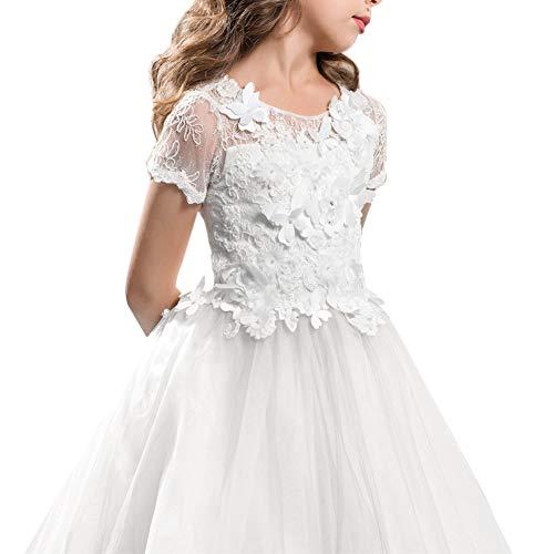 89eca96cf1ea2 Habillé Fête Baptême 006 Longue Enfant Prom Soirée Coaktail Princesse  Cérémonie Ans Anniversaire Mariage Première Blanc De Robe ...