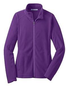 Port Authority L223 Ladies Microfleece Jacket,Large,Amethyst Purple