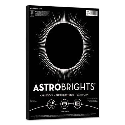 Color Cardstock, 65lb, 8 1/2 x 11, Eclipse Black, 100 Sheets