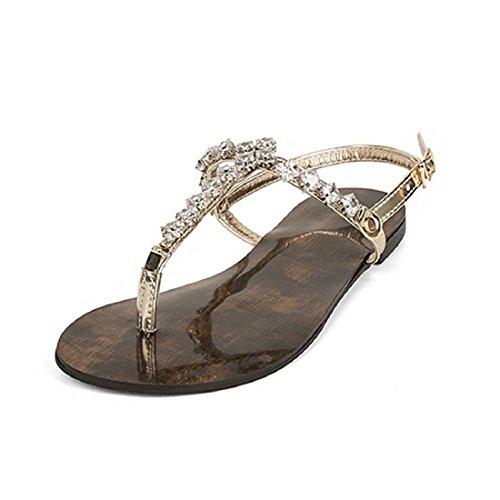Sandales femme pour Lazutom pour Lazutom Doré Sandales 57n7qwXWR