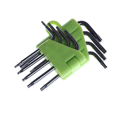 Cacys-Store - 8 in 1 Mini Torx Screwdriver Set T5 T6 T7 T8 T9 T10 T15 T20 Repair Tools Set Torx Screwdriver Repair Wrench Kit ()