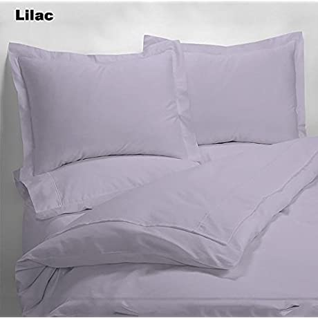 Luxury 600 Thread Counts 7pc Bed In A Bag With 300GSM Comforter Full XL Size Lavender Lilac Solid 100 Egyptian Cotton By PARADISEHOUSE