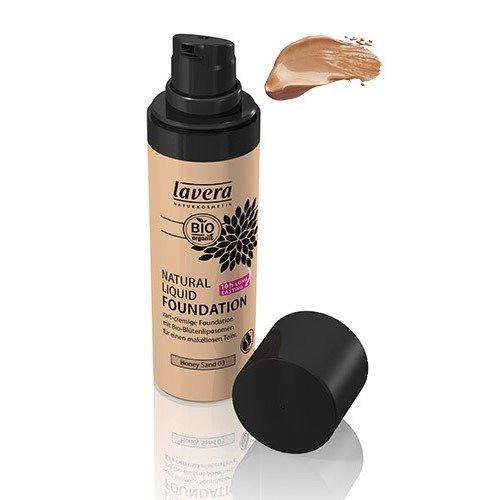 Lavera Natural Liquid Foundation for Medium Skin Tone, No. 03 Honey Sand, 1 Ounce