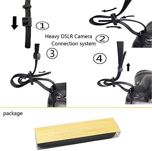 CHMETE Washable Soft Neoprene Camera Neck Strap (Black) 41R8vw1pwHL