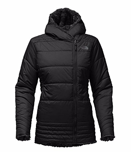 The North Face Mossbud Swirl Parka Women (Medium, TNF Black)