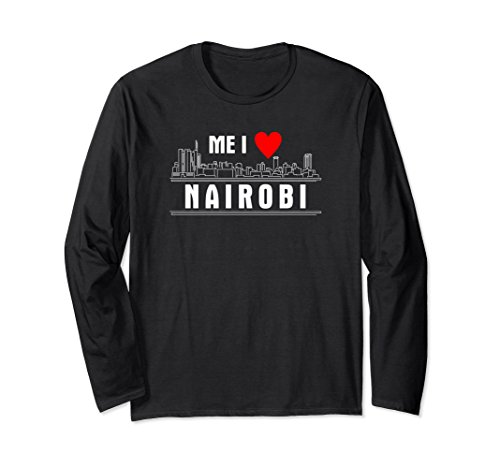 I Love Nairobi Kenya T Shirt Long Sleeve