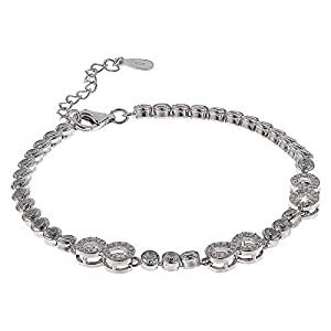 AK Jewels 925 Silver Infinity Tennis Bracelet For Women