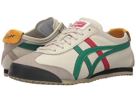 (オニツカタイガー) Onitsuka Tiger ユニセックスランニングシューズスニーカー靴 Mexico 66R [並行輸入品] B075H7XSBT Men's 5, Women's 6.5 (23cm(レディース23.5cm)) M Birch/Green 1
