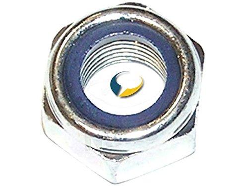 50/pi/èces M 20/mm Dresselhaus /Écrous 6/pans avec anneau en plastique forme basse galvanis/é