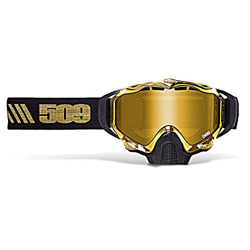 509 Sinister X5 Snow Snowmobile Goggles - Gold - Gold Mirror Yellow Tint Lens by 509