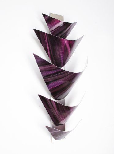 Modern Abstract Metal Wall Art Sculpture Lamp LED Accent Lighting Purple
