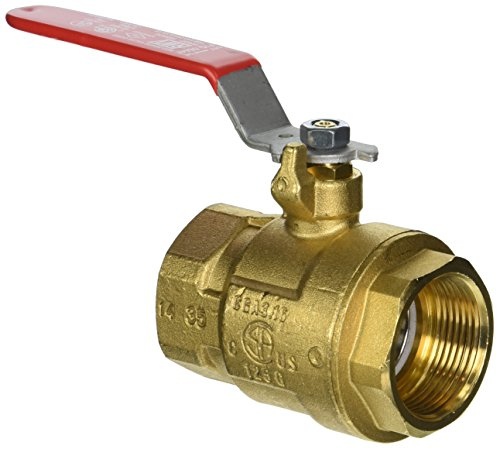 Red-White Valve 114RW5044F Industrial Full Port Ball Valve (2 Piece), 1 1/4'' by Red-White Valve