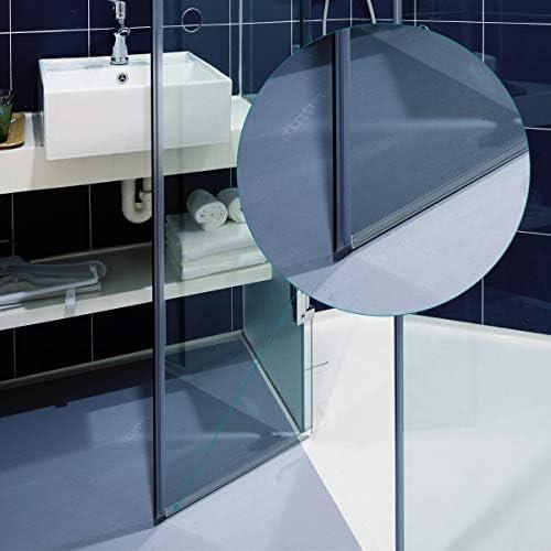 Navaris junta de recambio para ducha - Repuesto para puerta de cristal con grosor de 6MM - Sello protector contra salpicaduras 45° 100CM de largo: Amazon.es: Bricolaje y herramientas