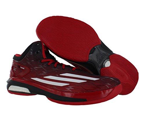 Adidas Crazylight Boost Chaussures Pour Hommes Taille Noir / Blanc / Écarlate Clair