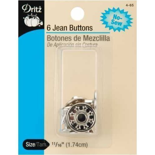 PRYM-DRITZ CORP No-Sew Jean Buttons (5/8 Inches) 6 Per Pa...