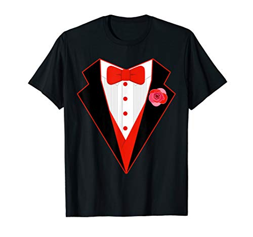 Valentine's Tuxedo Shirt | Cute Valentine Coat T-shirt Gift (Valentino Red Coat)