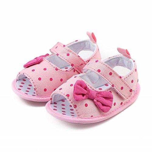 bobo4818 Neugeborenes Baby Jungen Mädchen Krippe Prewalker Weiche Sohle Anti-Rutsch Turnschuhe Schuhe Rosa