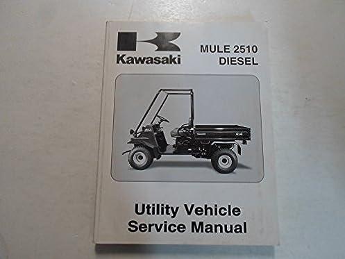 2000 kawasaki mule 2510 diesel utility vehicle service shop manual rh amazon com