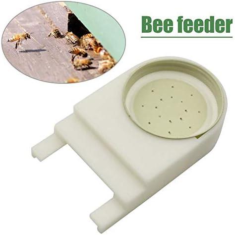 Nologo Heng Bienenzucht Beehive Wasser-Zufuhr Bee Trinken Nest Eingang Beekeeper Cup Werkzeug Trinken Nest Beekeeper Werkzeug Farm Beekeeper (Farbe : Weiß)
