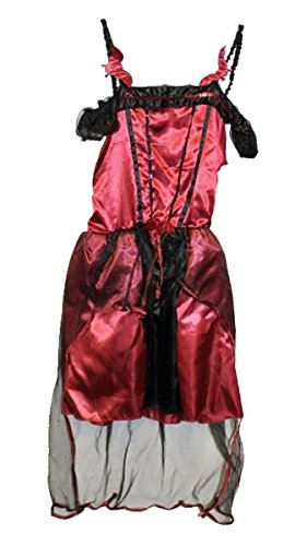 Kids Tesco Halloween Teen Gothic Vampiress Outfit Girls Fancy Stag Party Costume 9-10 Years]()