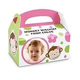 Pink Mod Monkey Empty Favor Boxes (4)