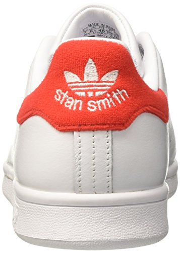 Red Bianco adidas Stan White Footwear Collo Sneaker White Smith Footwear a Uomo Basso 7FqZw6Axq