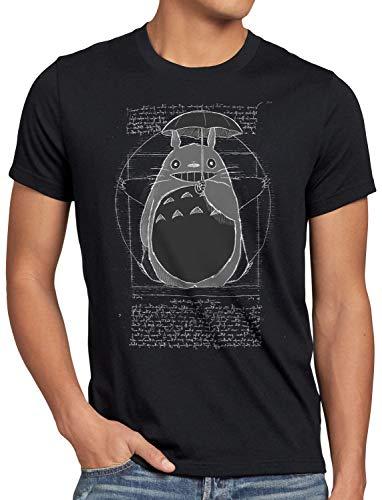 Anime shirt Totoro T Mio Vicino Style3 Da Vitruviano Uomo Nero Z8qWwRx