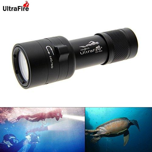 UltraFire DV-R20 CREE LED Diving Video Flashlight,Underwater Camera Fill Light 100m Depth Dive Lighting Lamp