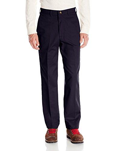 Red Kap Uniforms Men's Plain Front Cotton Pant, Navy, 48x34
