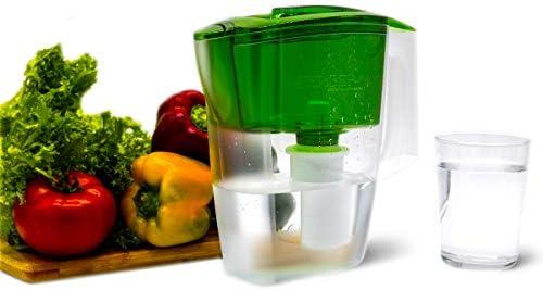 Geyser Jarra con Filtro purificador de Agua Alpha (Verde): Amazon ...