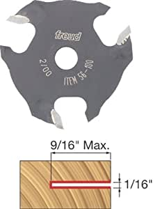 Freud 56-100 1/16-Inch 3-Wing Slot Cutter for 5/16 Router Arbor by Freud