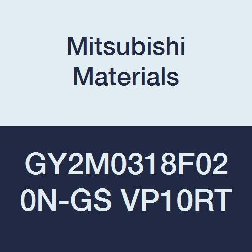 Neutral Hand Sintered Peripheral Coated Mitsubishi Materials GY2M0318F020N-GS VP10RT Carbide Grooving Insert for Low Feeds 0.008 Corner Radius F Seat 0.125 Grooving Width Pack of 10