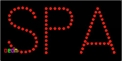 9.5''x19'' Neon By Deon Spa LED Sign w/Flashing Controller