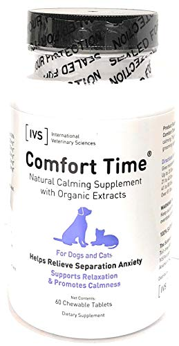 Comfort Time Chewable Tablets, Natural Source Calmative for Pets, 60 count