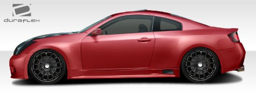 Duraflex ED-WMK-486 GT500 Wide Body Side Skirts Rocker Panels - 2 Piece Body Kit - Compatible For Infiniti G Coupe 2003-2007