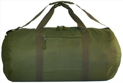 Explorer Tactical Round Heavy Duty Duffel Bag With Shoulder Strap, Olive Drab Green, 31 x 16 x 16-Inch