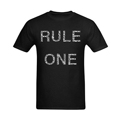 Fashion-In Men's Rules One Quotes Saying Art Design T-Shirt - Heart T Shirt US Size -
