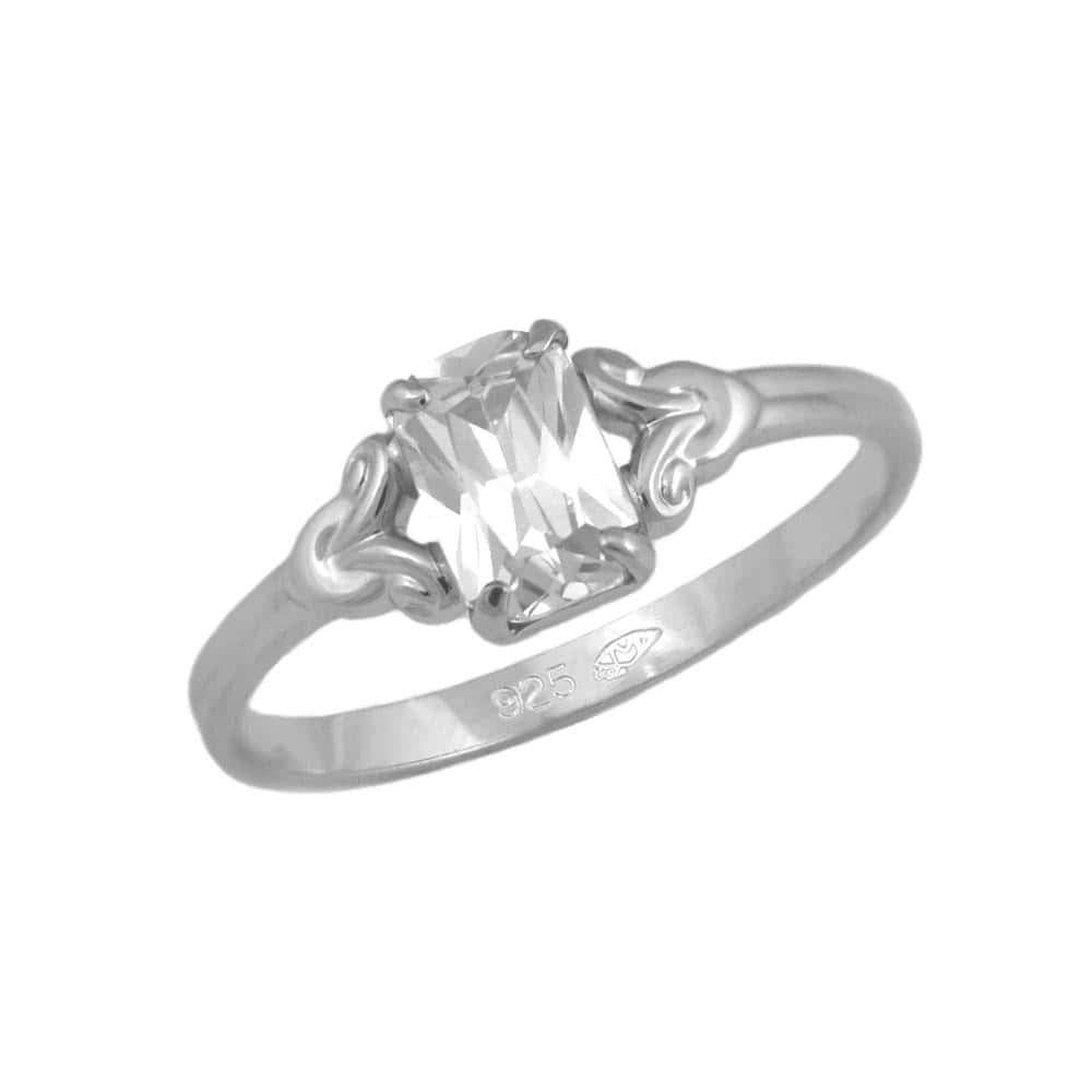size 4 Girls Jewelry Sterling Silver Simulated Birthstone Ring