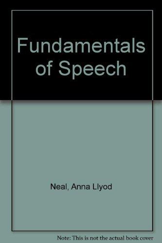 Fundamentals of Speech