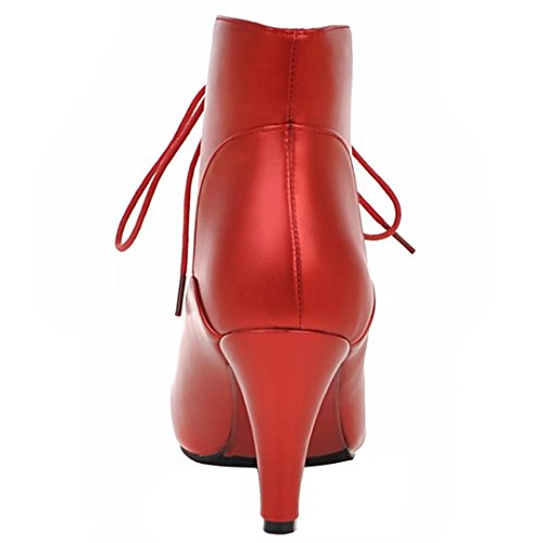 AIYOUMEI Women's Classic Boot Red B5bADZ