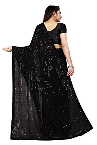 Florely Women's Pure Georgette Saree With blouse piece 2 41R9 o3GVUL