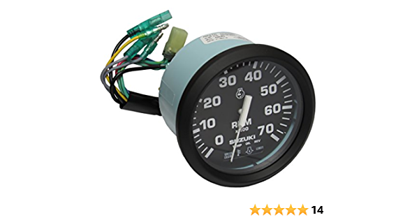 amazon.com: suzuki oem marine tachometer with 4-stroke monitor functions,  black 99105-80001: industrial & scientific  amazon.com