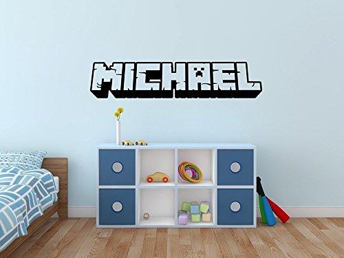 3D Custom Gamer Name Vinyl Wall Decal Sticker - Art Customized Name