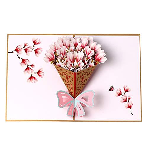 3D Pop up Flower Bouquet Greeting Card,Teacher's Day Card,Mother's Day Card,Thank You Card,Appreciation Card,Birthday Card,Anniversary Card,Christmas Cards