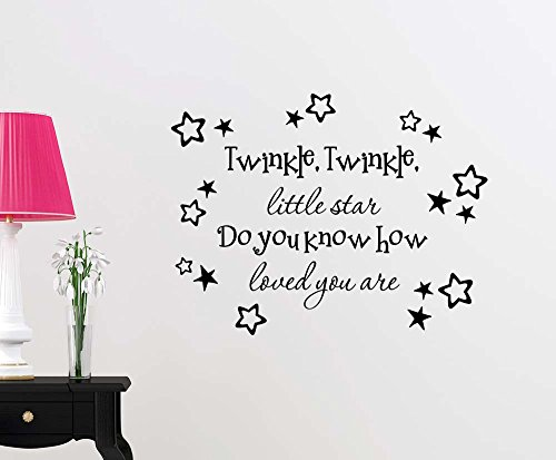 Wall Vinyl Decal Twinkle Twinkle little star do you know how loved you are stars nursery vinyl saying lettering wall art inspirational sign wall quote decor by Simple Expressions Arts