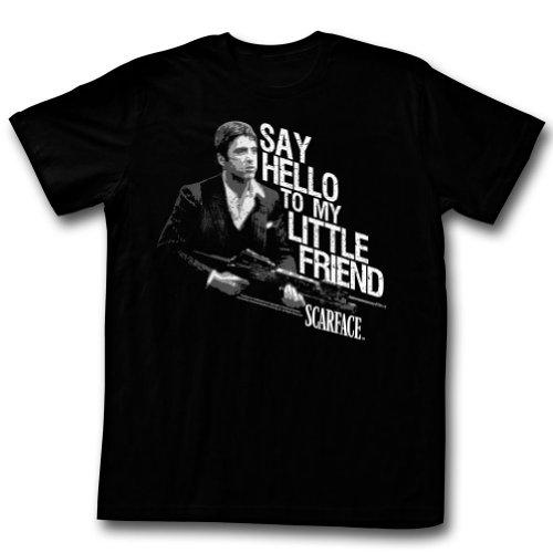 Scarface - Mens Little Buddy T-Shirt, Size: Medium, Color: Black