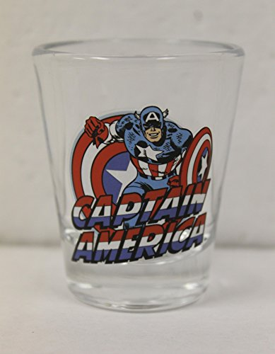 Toon Tumblers Mini-glass: Marvel's Captain America from the Avengers (Shot Glass Captain America)