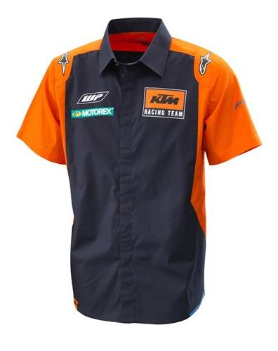 (KTM REPLICA BUTTON UP TEAM SHIRT LARGE 3PW1853004)
